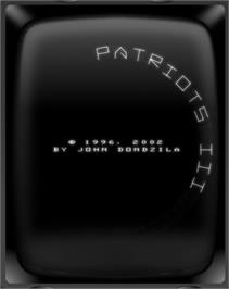 Title screen of Patriots III: BALListics Busters on the GCE Vectrex.