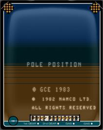 Title screen of Pole Position on the GCE Vectrex.