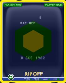Title screen of Rip-Off on the GCE Vectrex.