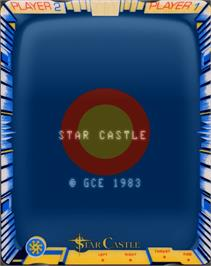 Title screen of Star Castle on the GCE Vectrex.
