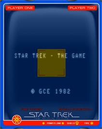 Title screen of Star Trek: The Motion Picture on the GCE Vectrex.