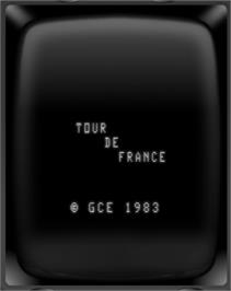 Title screen of Tour De France on the GCE Vectrex.