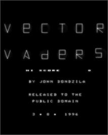 Title screen of Vector Vaders on the GCE Vectrex.