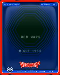 Title screen of Web Wars on the GCE Vectrex.