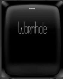 Title screen of Wormhole on the GCE Vectrex.