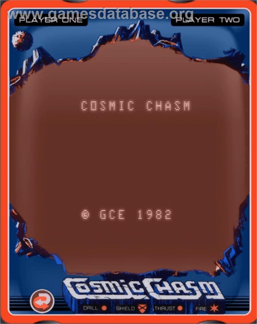 Cosmic Chasm - GCE Vectrex - Artwork - Title Screen