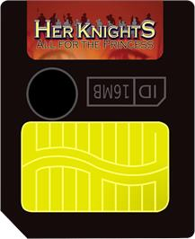 Cartridge artwork for Her Knights - All for the Princess on the Gamepark GP32.