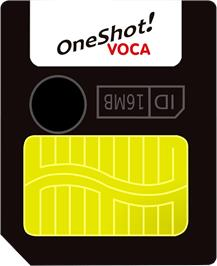 Cartridge artwork for OneShot Voca on the Gamepark GP32.