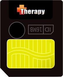 Cartridge artwork for Therapy on the Gamepark GP32.