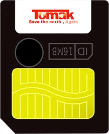 Cartridge artwork for Tomak - Save the Earth, Again on the Gamepark GP32.