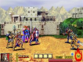 In game image of Dungeon & Guarder - Dragon Gore on the Gamepark GP32.