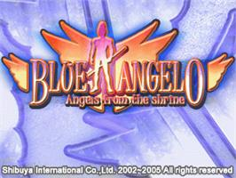 Title screen of Blue Angelo - Angels from the Shrine on the Gamepark GP32.