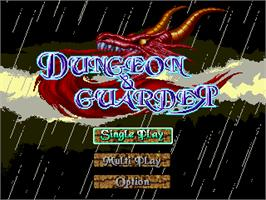 Title screen of Dungeon & Guarder - Dragon Gore on the Gamepark GP32.