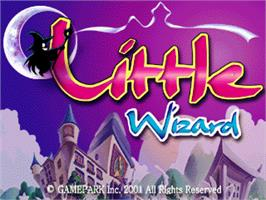 Title screen of Little Wizard on the Gamepark GP32.