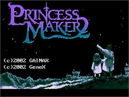 Title screen of Princess Maker 2 on the Gamepark GP32.