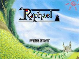 Title screen of Raphael on the Gamepark GP32.