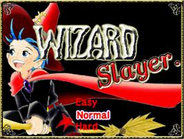 Title screen of Wizard Slayer on the Gamepark GP32.
