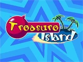 Title screen of Woody & Kunta - Treasure Island on the Gamepark GP32.