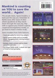 Box back cover for Space Invaders XL on the Genesis Microchip Nuon.