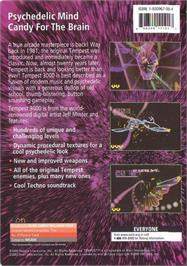Box back cover for Tempest 3000 on the Genesis Microchip Nuon.