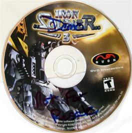 Artwork on the CD for Iron Soldier 3 on the Genesis Microchip Nuon.