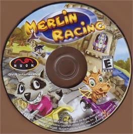 Artwork on the CD for Merlin Racing on the Genesis Microchip Nuon.