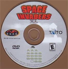 Artwork on the CD for Space Invaders XL on the Genesis Microchip Nuon.