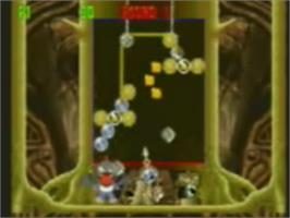 In game image of Bust-A-Move 4 on the Genesis Microchip Nuon.