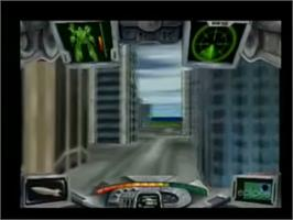 In game image of Iron Soldier 3 on the Genesis Microchip Nuon.