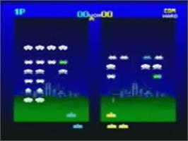 In game image of Space Invaders XL on the Genesis Microchip Nuon.