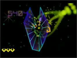In game image of Tempest 3000 on the Genesis Microchip Nuon.