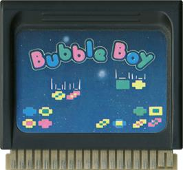 Cartridge artwork for Bubble Boy on the Hartung Game Master.