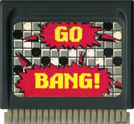 Cartridge artwork for Go Bang on the Hartung Game Master.