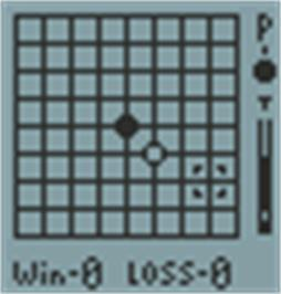 In game image of Go Bang on the Hartung Game Master.