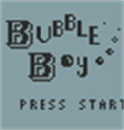 Title screen of Bubble Boy on the Hartung Game Master.