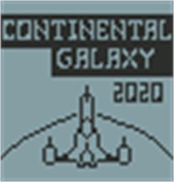 Title screen of Continental Galaxy 2020 on the Hartung Game Master.