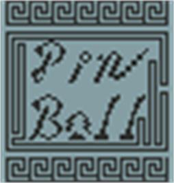 Title screen of Pin Ball on the Hartung Game Master.