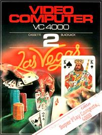 Box cover for Blackjack on the Interton VC 4000.