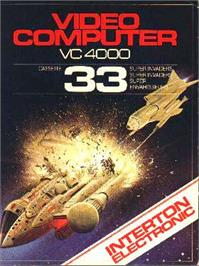 Box cover for Super Invaders on the Interton VC 4000.