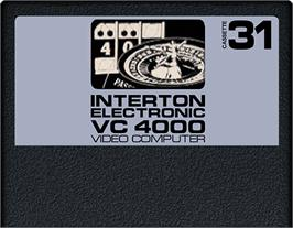 Cartridge artwork for Casino on the Interton VC 4000.