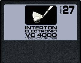 Cartridge artwork for Golf on the Interton VC 4000.