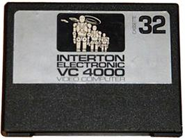 Cartridge artwork for Invaders on the Interton VC 4000.