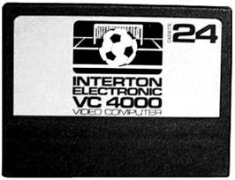 Cartridge artwork for Soccer on the Interton VC 4000.