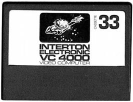 Cartridge artwork for Super Invaders on the Interton VC 4000.