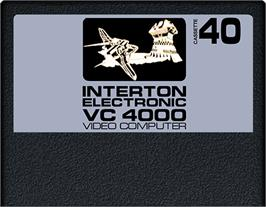 Cartridge artwork for Super Space on the Interton VC 4000.
