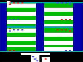 In game image of Backgammon on the Interton VC 4000.