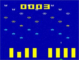 In game image of Invaders on the Interton VC 4000.