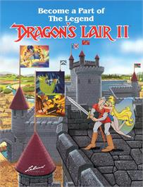 Advert for Dragon's Lair 2 on the Laserdisc.