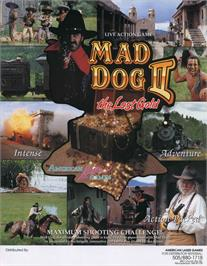 Advert for Mad Dog II: The Lost Gold on the Laserdisc.