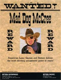Advert for Mad Dog McCree on the Philips CD-i.